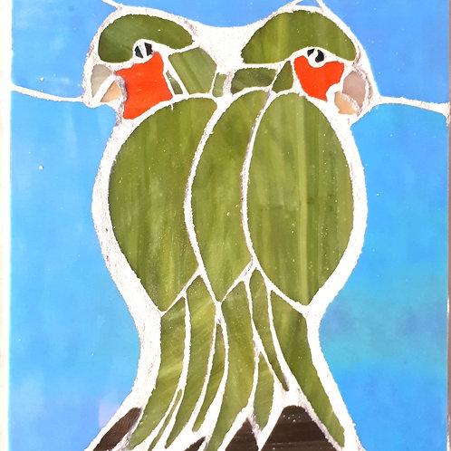 Pair of love birds by Nicola Upton
