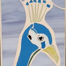 Peacock head mosaic £50