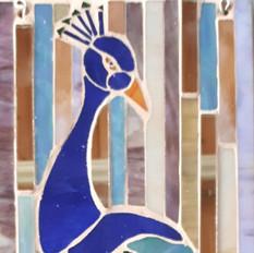 Blue Peacock, 40x18cms £100