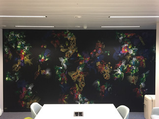 Fresque bureau @Infrabel Bruxelles
