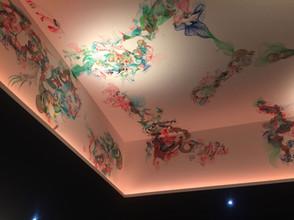 Fresque plafond Sky Bar Luxembourg