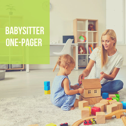 Babysitter One-Pager