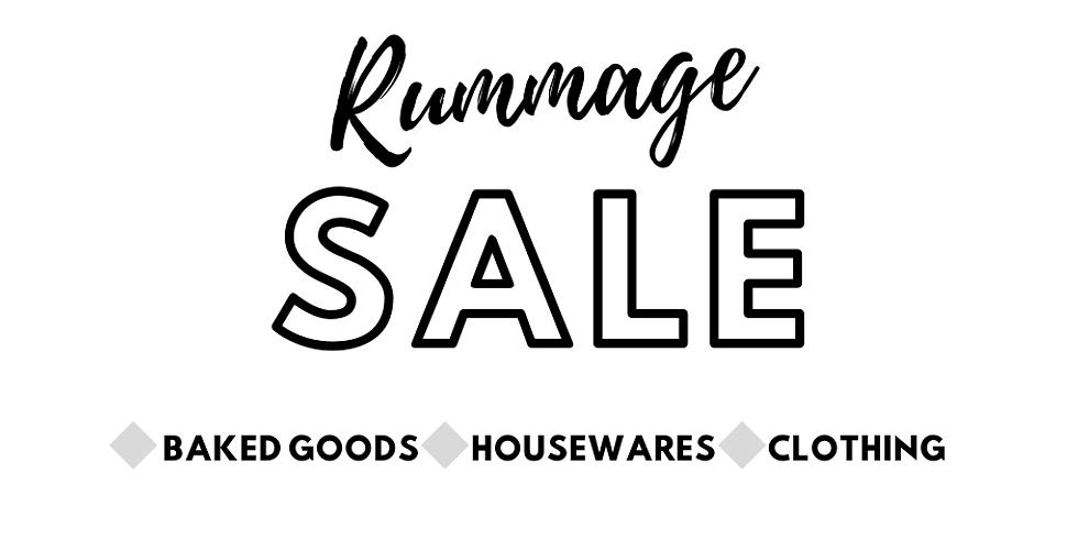 Annual Rummage Sale: Saturday August 8th.