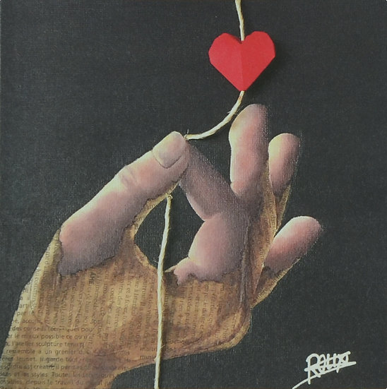 Attrape coeur - carte postale