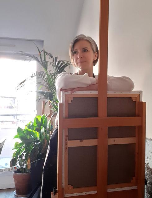 Stéphanie Roux Artiste dans son atelier