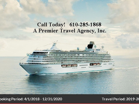 UP TO $200 SHIPBOARD CREDIT ON  CRYSTAL CRUISES