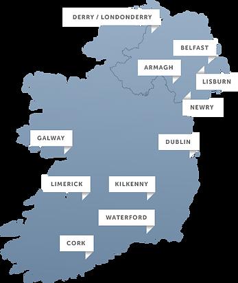 Map of Ireland Call 610-285-1868