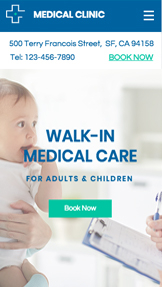 Zdrowie website templates – Walk-In Clinic