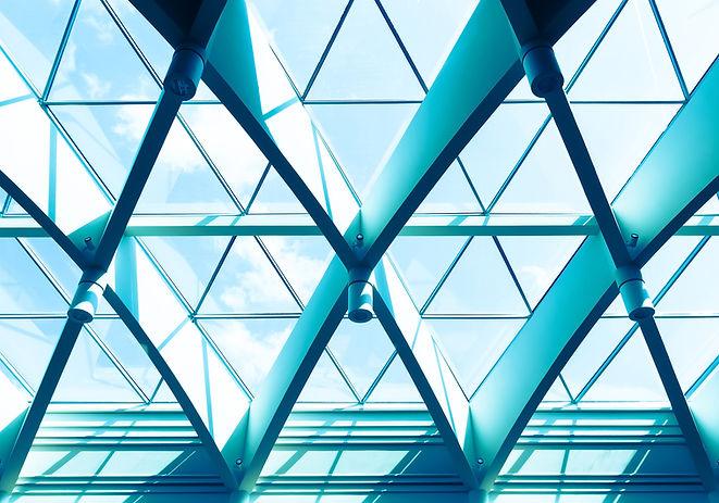 Büro mit Dreieck von Windows