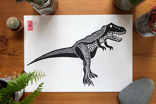 Clever Girl A4 dino print