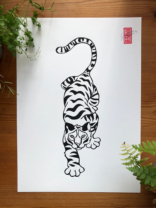 Crouching Tiger A4 print