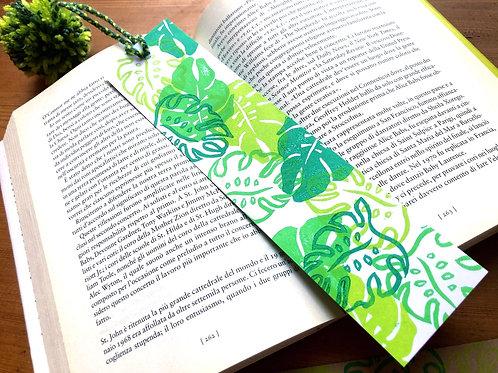 Monstera bookmark