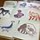 Thumbnail: Technicolour Animals - square card bundle PACK OF 4