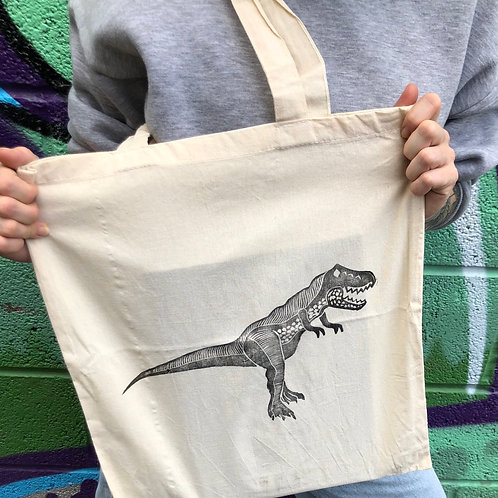 Clever Girl dino tote