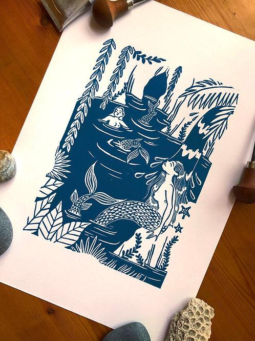 Lagoon Squad A3 print