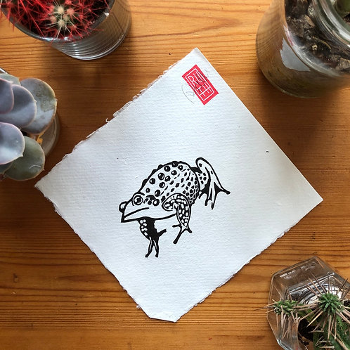 Mini sqaure print - Toad