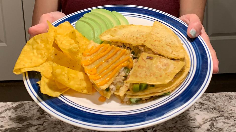 Green Chile Chicken Quesadillas