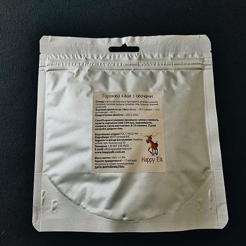Гороховая каша с овощами (упаковка для запаривания)
