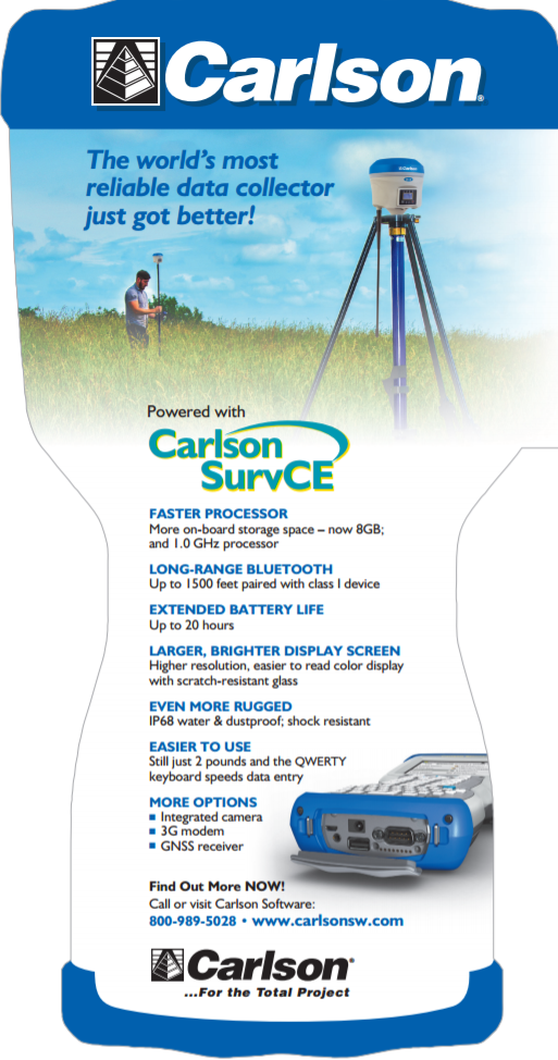 Carlson GEO Cell Surveyor2 D  C  w/Wifi, B tooth, Cam , GPS, -Choose  Software | wachusettsurvey