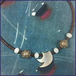 Silver & Beaded Necklace