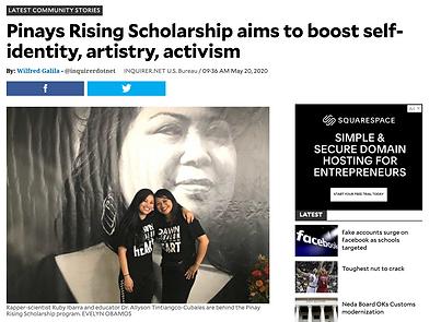Pinays Rising Scholarship Ruby Ibarra