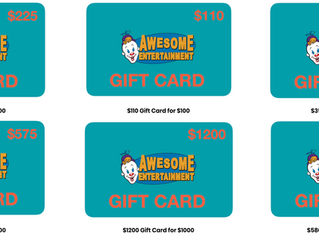 Introducing Awesome Gift Cards!