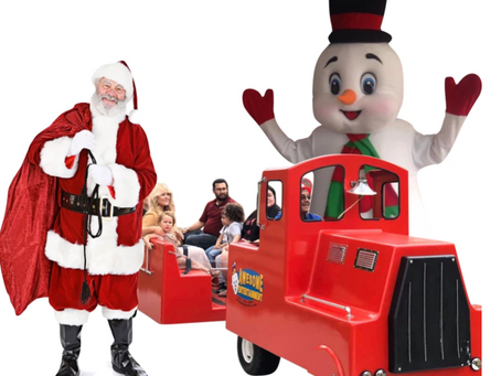 All Aboard! Holiday Character Train Ready to Arrive with Santa in Tow.