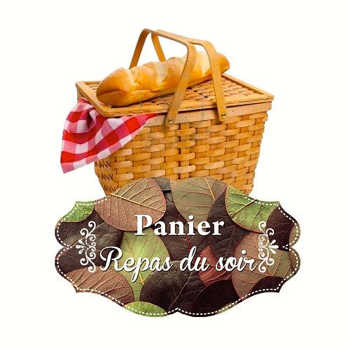 Panier repas du soir (tarif /personne)
