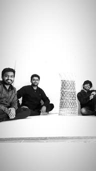 Ravi, Lokesh and Shreyash with finished prototype