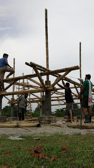 mushrooming sub-structure in place