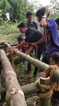 roasting bamboo to prevent termite infestation