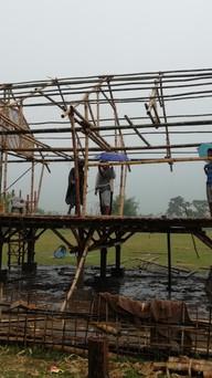 Building through the rain