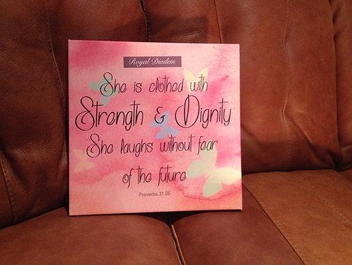 Proverbs 31v25 Canvas