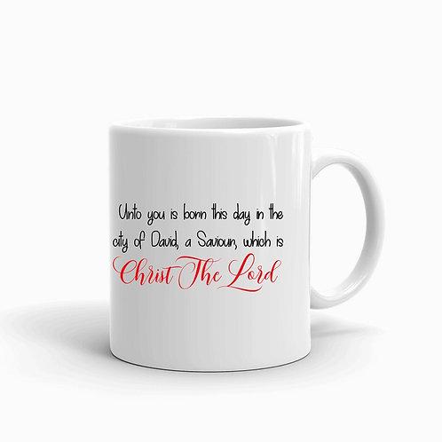 """""""Luke 2:11"""" Christmas Mug"""