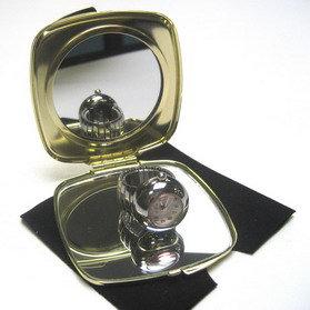 Miroir rectangle doré avec photo gravure