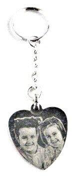 PC10 Porte clés coeur avec photo
