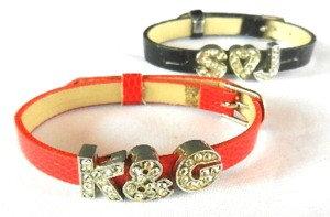 Bracelet strass avec prénom
