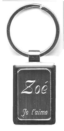 Porte clés avec prénom offert