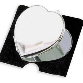 Miroir coeur argenté avec photo gravure