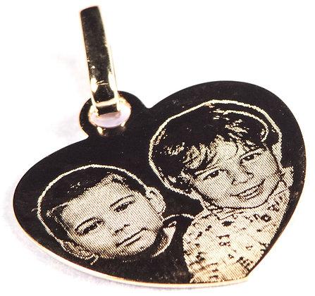 P11 Pendentif coeur plaqué or