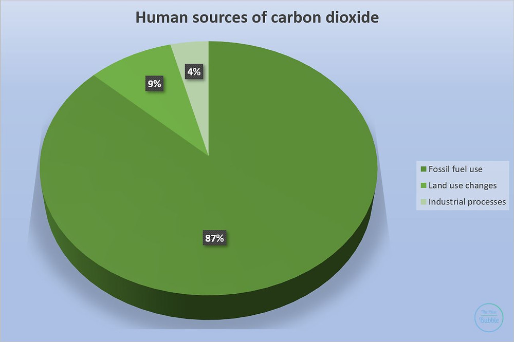 Based on Le Quéré, C. et al. (2013). The global carbon budget 1959-2011. The Blue Bubble. Climate Coping Infographic. Global Warming.