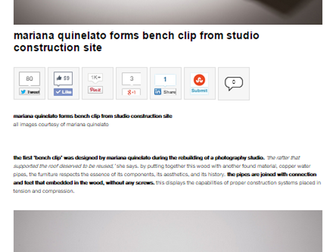 Banco Clip no site Designboom