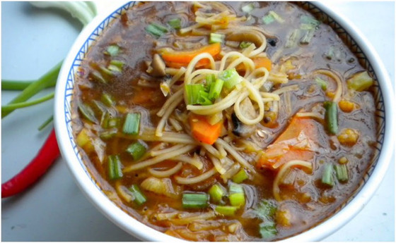Oriental Mushroom Vegetable Soup