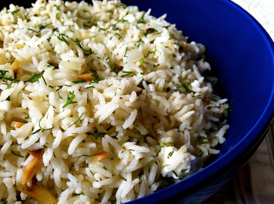 Lemon & Almond Rice Pilaf