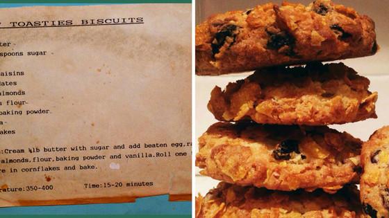 Low Sugar Cornflake Cookies