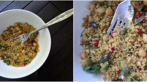 Rubied Couscous With Pomegranates & Chickpeas