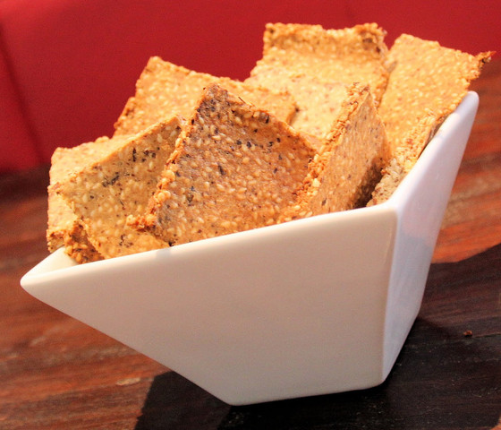 Almond Sesame Crackers