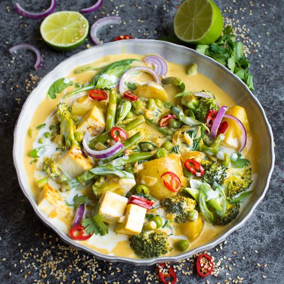 Peanut Thai Roasted Vegetables