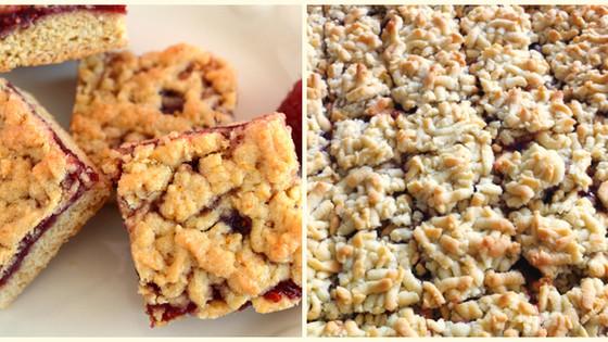 Cookie Crumble Jam Slice