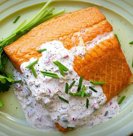Fish With Smoked Salmon Sauce